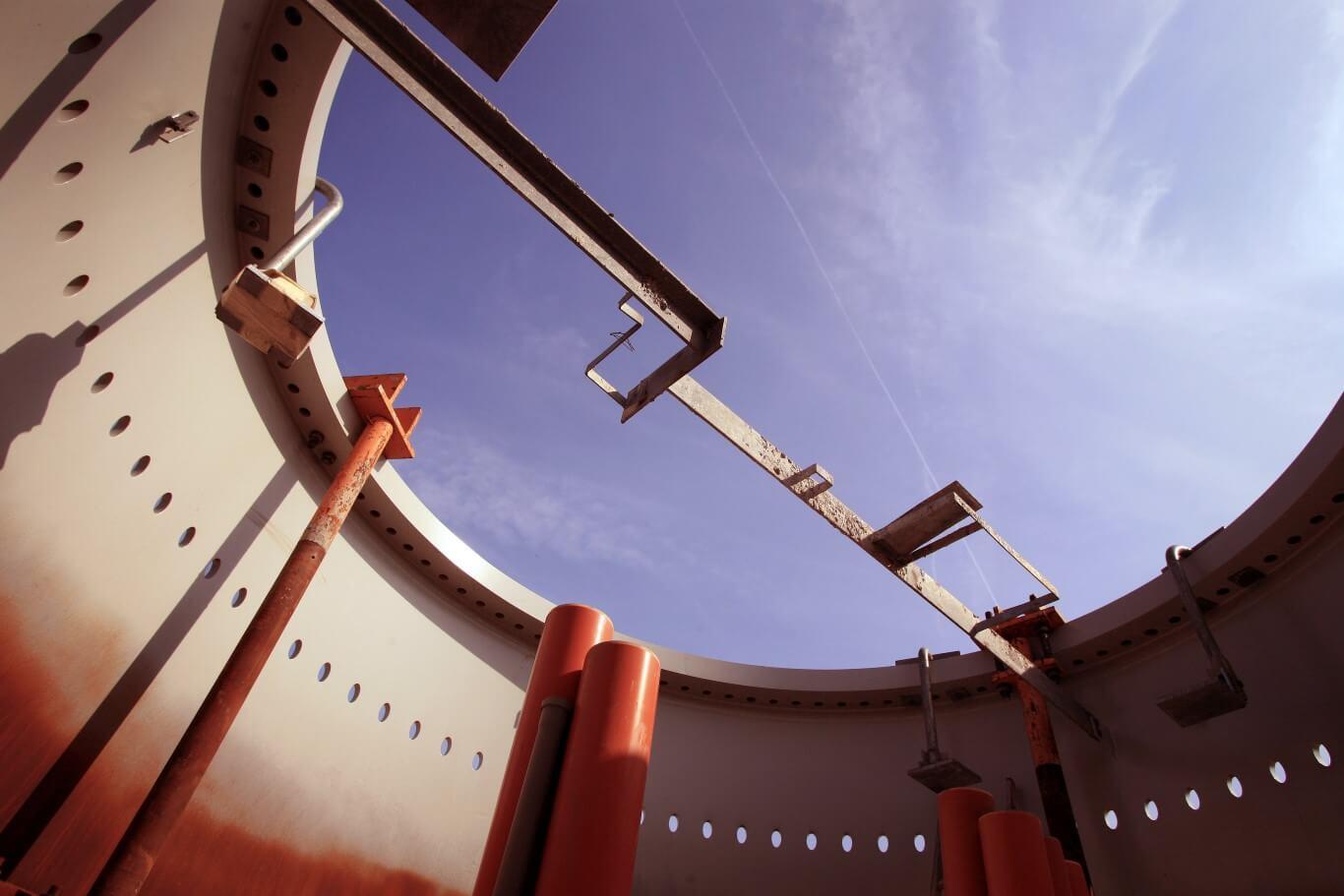 Reclamefotografie voor brochure Eneco, bouwproject windturbinepark
